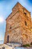 Coasting πύργος σε Salento στην ιόνια θάλασσα στοκ φωτογραφίες με δικαίωμα ελεύθερης χρήσης