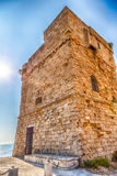 Coasting tower in Salento on the Ionian Sea. In Italy,  Marina Serra Tricase, Lecce, Apulia Royalty Free Stock Photos