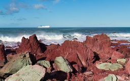 Coastle Red Rocks Stock Images
