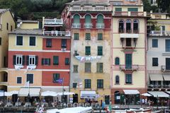 Old architectural approach of Italy seen in Portofino stock images
