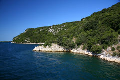 Coastline. Very beautiful coastline in croatia Royalty Free Stock Images