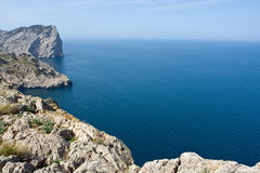 Coastline. Of island Mallorca, Spain Royalty Free Stock Images