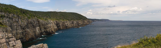 Coastline. Along the eastern avalon peninsula, Newfoundland. Shot on the East Coast trail, this area is only accessible by foot or by sea Royalty Free Stock Photography