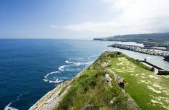 Coastline. Sunny coastline in llanes north of spain Royalty Free Stock Photos