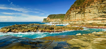 Coastline. Rugged coastline of Avoca Beach, New South Wales, Australia Stock Image