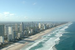 Coastline. At Surfer Paradise Royalty Free Stock Photography