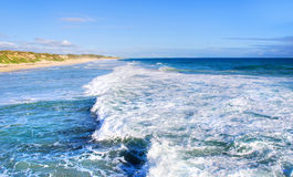 Coastline. Beautiful blue colours of the Australian coastline Royalty Free Stock Photo