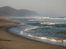 Coastline. The beautiful coastline from Cape Vidal Royalty Free Stock Image