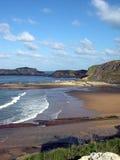 Coastline. View of an atlantic side coastline with no boat , no people stock photo