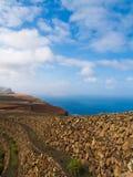Coastline. Coast near view point Mirador del Rio, Lanzarote, Canary islands Stock Photography