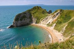 Coastline. Cliffs at Durdle Door, Dorset Stock Image