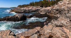 Coastline Acadia National Park in Maine. Coastline in Acadia National Park in Maine stock images