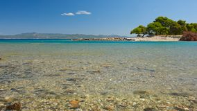 Sea lagoon. Galrokavos. Kassandra, Halkidiki, Northern Greece Royalty Free Stock Images