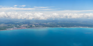Coastline aerial view Royalty Free Stock Photo