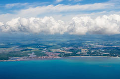 Coastline aerial Royalty Free Stock Photography