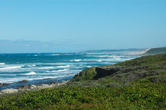 Coastline in Africa. Beach View Indian Ocean South Africa Royalty Free Stock Image