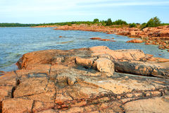 Coastline in Aland Islands Royalty Free Stock Images