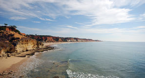 Coastline in Algarve (Portugal) Royalty Free Stock Photos