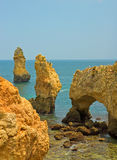 Coastline of Algarve, Portugal Stock Photo