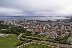 Coastline Almada city Royalty Free Stock Image