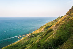 Coastline along the mount San Bartolo, near Pesaro Stock Photography