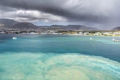 Coastline along a Saint Kitts and Nevis island Stock Photos