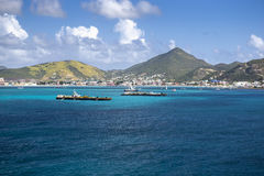 Coastline along a Sint Maarten in Caribbean sea Stock Photos