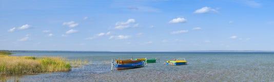 Coastline And Boats Stock Image