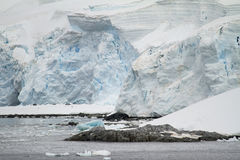 Coastline of Antarctica - Global Warming - Ice Formations Stock Photography