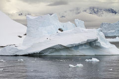 Coastline of Antarctica - Global Warming - Ice Formations Stock Images