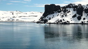 Coastline of Antarctica With Ice Formations stock video