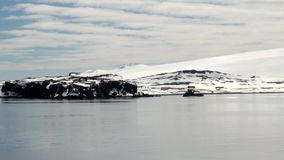 Coastline of Antarctica With Ice Formations stock footage