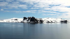 Coastline of Antarctica With Ice Formations stock video footage
