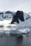 Coastline of Antarctica With Ice Formations Royalty Free Stock Photo