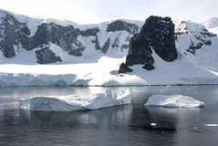 Coastline of Antarctica With Ice Formations Stock Image