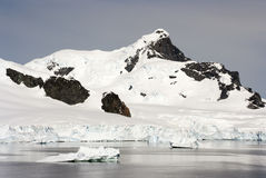 Coastline of Antarctica With Ice Formations Stock Images