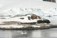 Coastline of Antarctica With Ice Formations Stock Photos