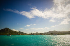 Coastline of Antigua Stock Image
