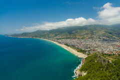 The coastline in the area of Alanya. Royalty Free Stock Image