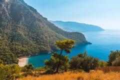 Free Coastline At Mediterranean Sea Near Fethiye Kabak Turkey Stock Image - 113625561