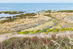 Coastline of Atlantic ocean on Guerande Peninsula Stock Photography