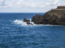 Coastline (Atlantic Ocean). Atlantic ocean - stone coast - Tenerife - Canary Island Royalty Free Stock Images
