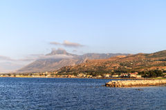 Coastline of Bagheria. Landscape Picture of the wonderful coastline of Bagheria near Palermo, Sicily Royalty Free Stock Photography