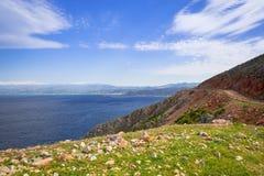 Coastline of Crete, Greece. Coastline of Balos peninsula on Crete, Greece Stock Photos