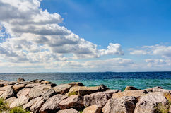 Coastline of the Baltic Sea in summer Stock Images