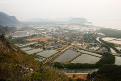 Coastline of Ban Khao Daeng Royalty Free Stock Photo