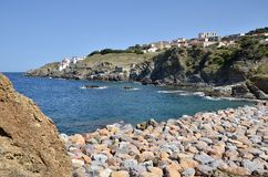 Coastline of Banyuls-sur-Mer in France Royalty Free Stock Image
