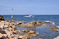 Coastline of Banyuls-sur-Mer in France Royalty Free Stock Photography