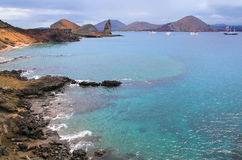 Coastline of Bartolome island, Galapagos National Park, Ecuador. Stock Photo