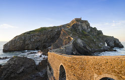 Coastline in Basque Country, Spain, San Juan de Gaztelugatxe at Stock Photography
